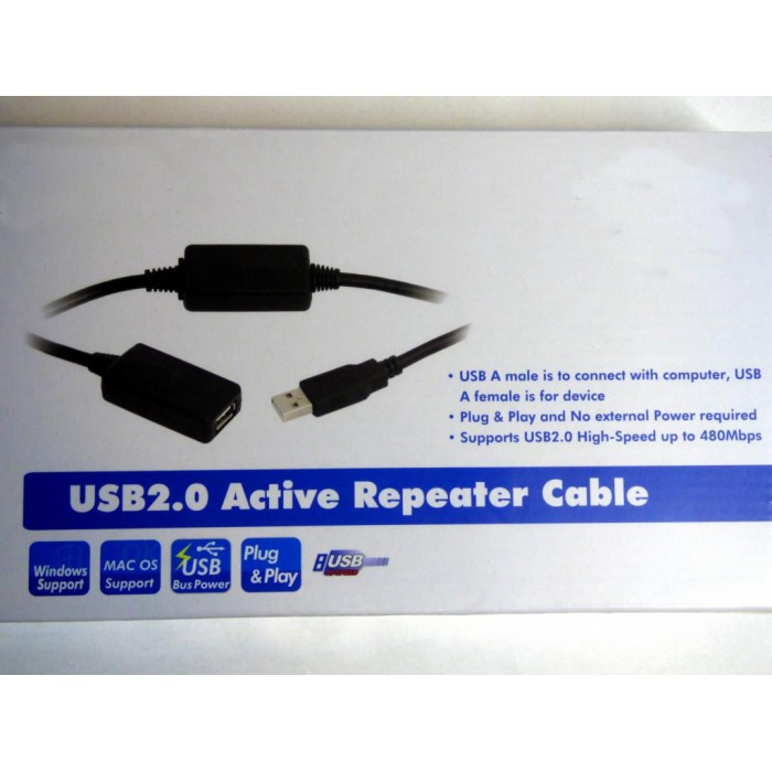 USB extension, aktive, 25 m