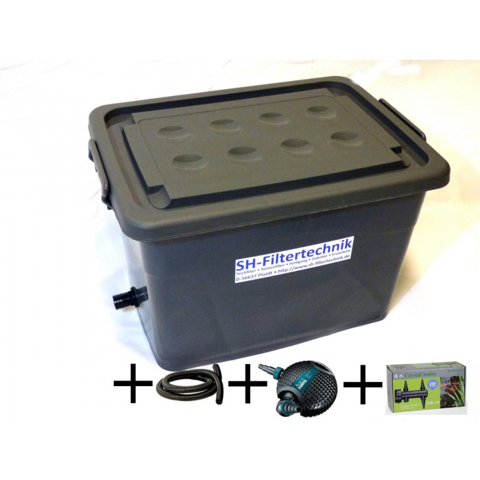 Compact pond filter KF-90-UP-gray