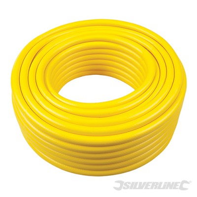 PVC-Schlauch mit Gewebeeinlage 30m, gelb